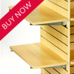 Slatwall Wood & Glass Shelving