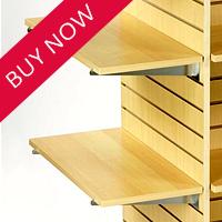 Slatwall Wood & Glass Shelves