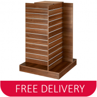 4 Way Freestanding Slatwall Gondola