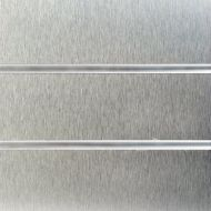 8x4 Brushed Aluminium slat wall with Inserts