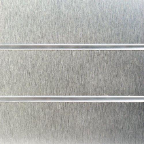 8x4 Brushed Aluminium Slatwall Panels