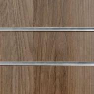 4x4 Light Walnut Slatwall with Inserts