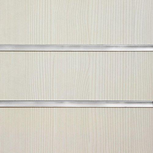 75mm Slot -Pino White Slatwall Panel