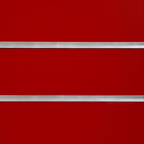 8x4 Red Slatwall Panels