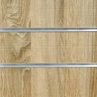 75mm Slot -Rustic Oak Slatwall Panel