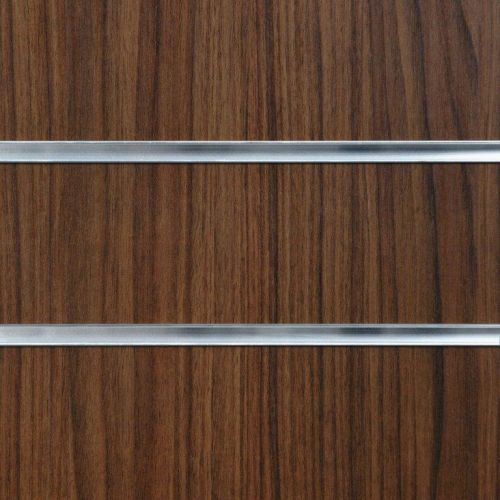75mm Slot -Walnut Slatwall Panel