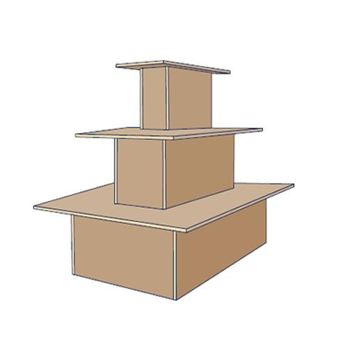 Rectangle 3 Tier Island Display Stand