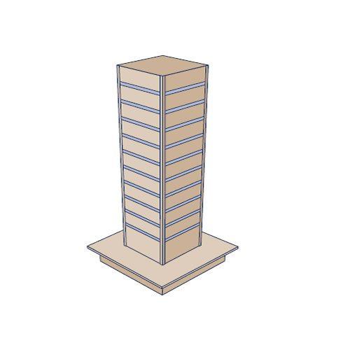 Slatwall 300 Tower Gondola Display