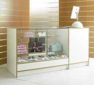 1800mm 3/4 Glass Combination Sales Counter