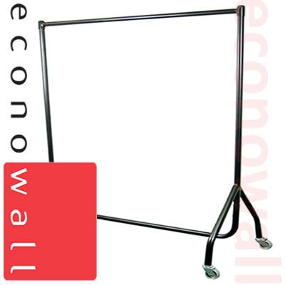 Black Heavy Duty Straight Garment Clothes Rail - 4ft Wide