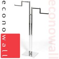 2 Arm Garment Clothes Rail With Stepped Arms