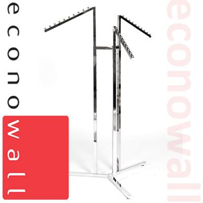 3 Arm Garment Clothes Rail With Waterfall Arms