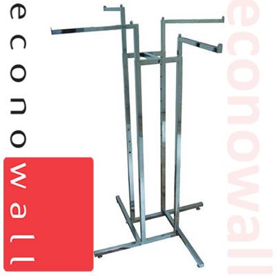 4 Arm Garment Clothes Rail With Straight Arms