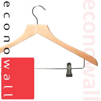 Wooden Shaped Suit Hangers With Clips