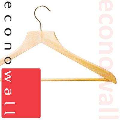 Wooden Shaped Suit Hangers (Square Neck)