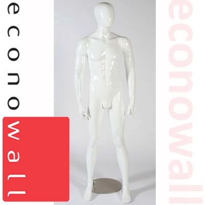 Buzz - Gloss White Male Shop Display Mannequin