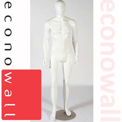 Zak - Gloss White Male Shop Display Mannequin