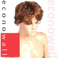 Short Shaggy Brown Hair Wig For Male Mannequins