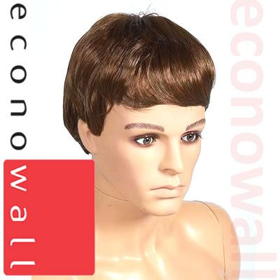 Short Cropped Brown Hair Wig For Male Mannequins- 1