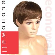 Short Cropped Brown Hair Wig For Male Mannequins- 3