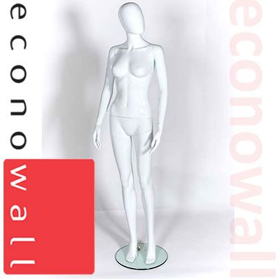 Female Shop Display Mannequin With Egg Style Head - 2