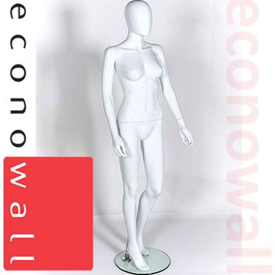 Female Shop Display Mannequin With Egg Style Head - 3