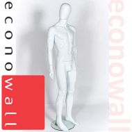 White Male Mannequin With Egg Style Head - 2