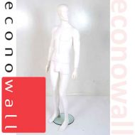 White Male Mannequin With Abstract Style Face - 1