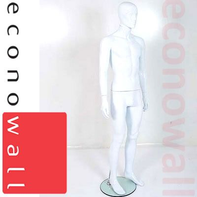 White Male Mannequin With Abstract Style Face - 2