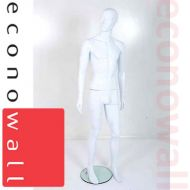 White Male Mannequin With Abstract Style Face - 3