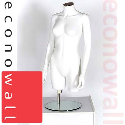 Female Torso Mannequin - No Head With Arms White
