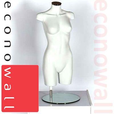 Female Torso Mannequin - No Head No Arms White