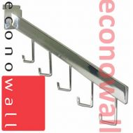 5 Hook Sloping Arm For Slatwall