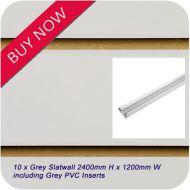 10 x Grey Slatwall + Grey Inserts