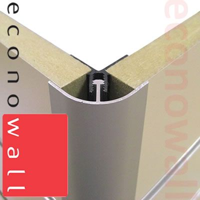 Aluminium Rounded Corner Trim For Slatwall Amp Mdf Boards