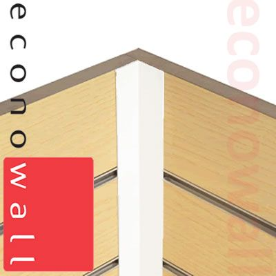 Slatwall PVC Internal / External Corner Trim