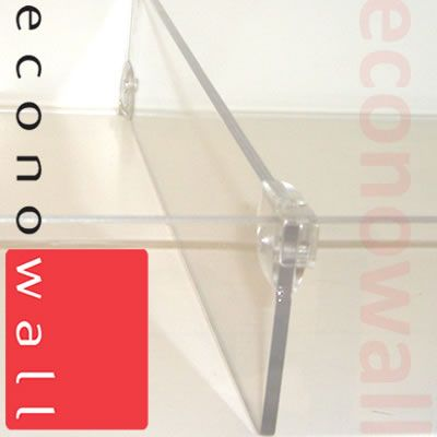 Acrylic Shelf Divider 75mm Exposed