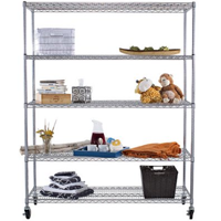 Buy Chrome Wire Shop Shelving